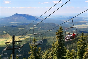 Scenic Chairlift Rides to the top of Arizona - Flagstaff