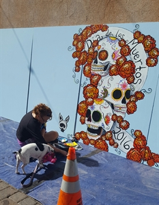 The Mural Marigold Project for Dia de Los Muertos