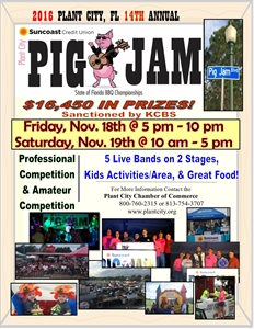 14th Annual Suncoast Credit Union Plant City Pig Jam