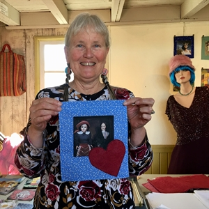 Mary Hockenbery and the Artwalk - Lindsborg, KS  67456