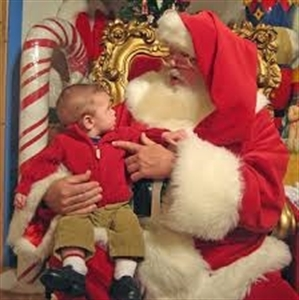 Santa Claus Visits at Bronner's Christmas Wonderland