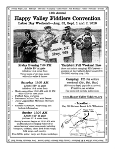 14th Annual Happy Valley Fiddlers Convention
