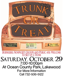 Trunk Or Treat at Ocean County Park