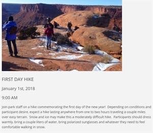 First Day Hike at Dead Horse Point