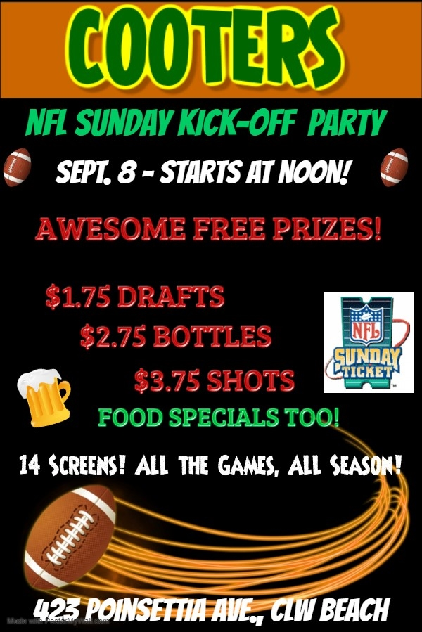 Cooters NFL Kickoff Party!