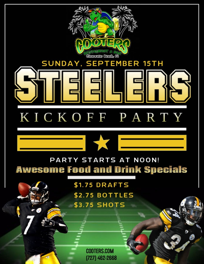 Steelers Fans of Pinellas; Annual Sunday Kickoff Party!
