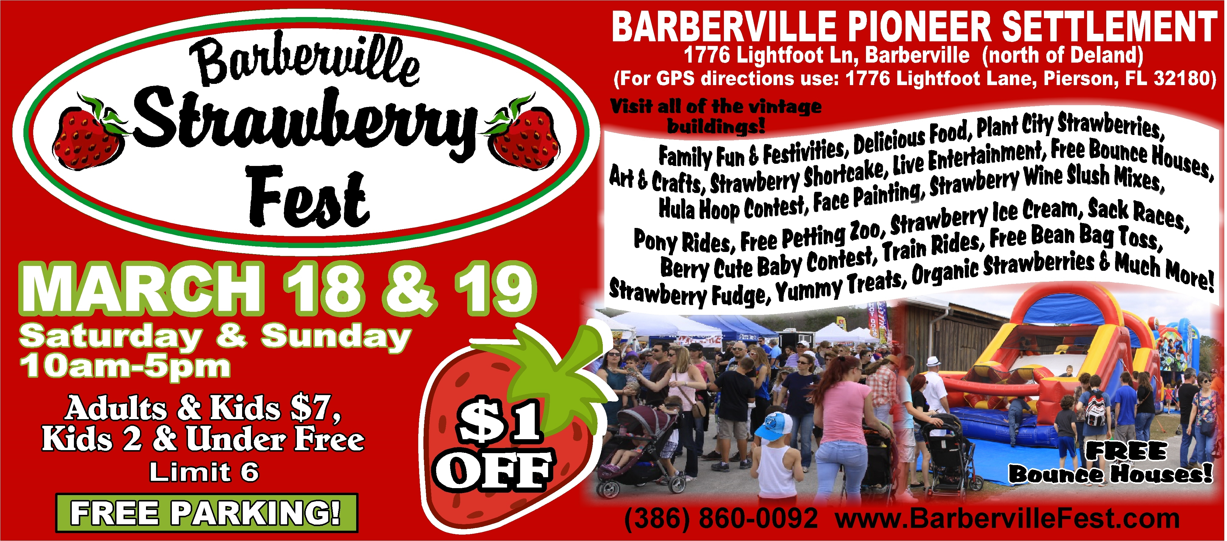 Barberville Strawberry Fest - March 18 & 19