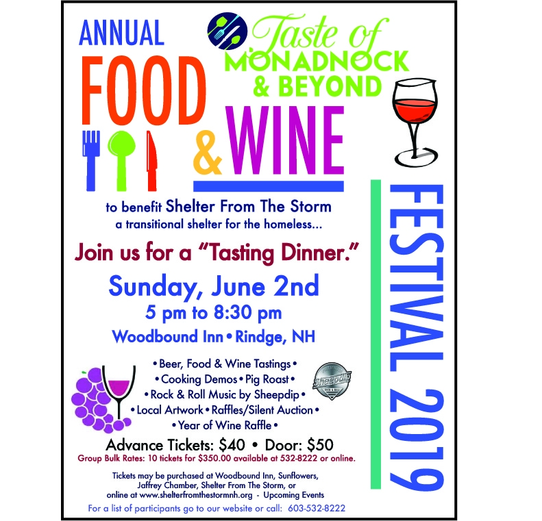 Taste of Monadnock & Beyond Food and Wine Festival - Rindge, NH. 03431