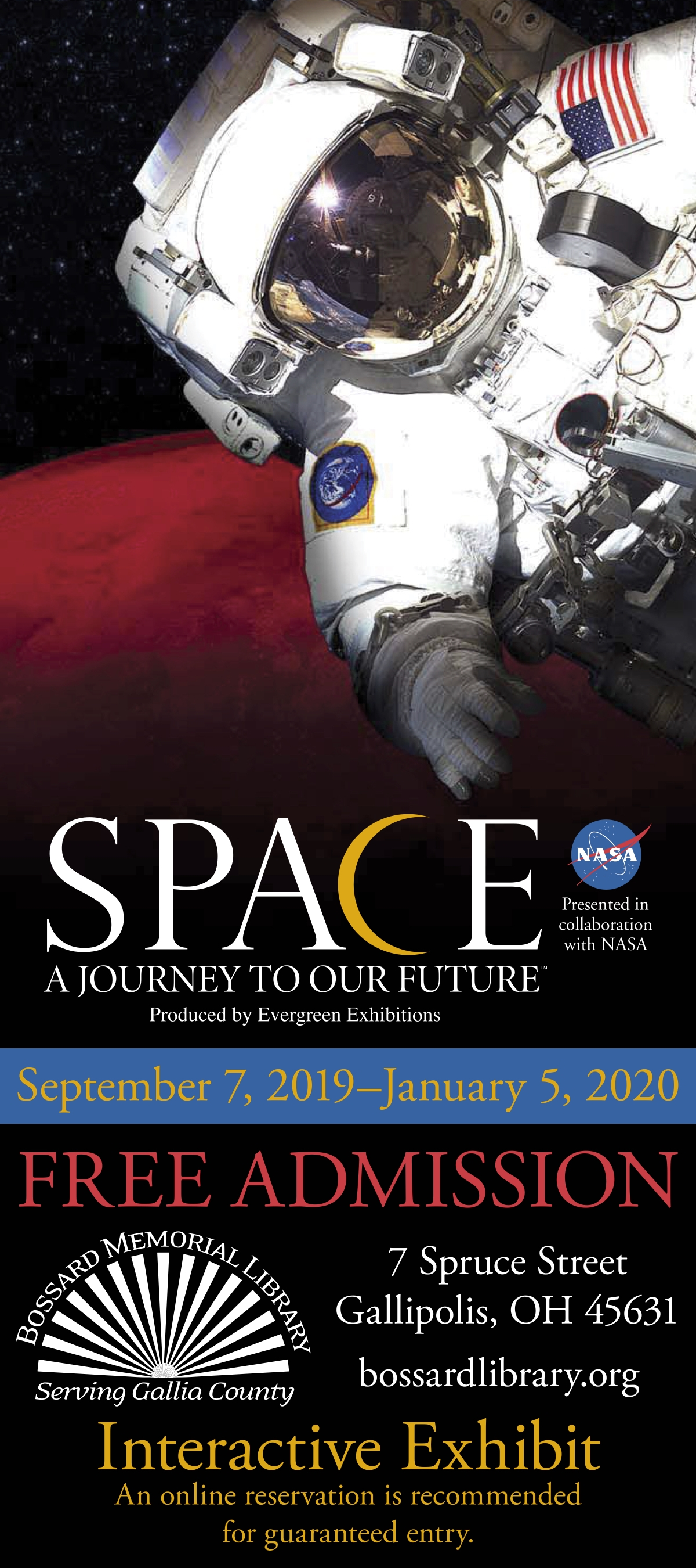 Space:  A Journey to Our Future exhibition